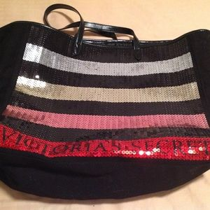 Victorias Secret Sequined Tote Large and Beautiful